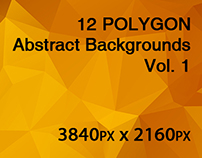 12 POLYGON Abstract Backgrounds Vol. 1
