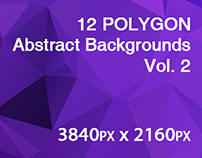 12 POLYGON Abstract Backgrounds Vol. 2