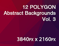 12 POLYGON Abstract Backgrounds Vol. 3
