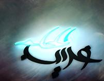 غريب الحلم - Arabic Calligraphy