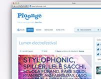 Ploonge | web design