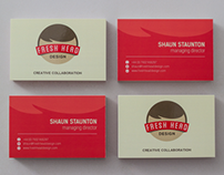 Fresh Head Design Business Cards