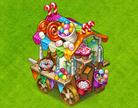 Candy cart levels and sweet icons
