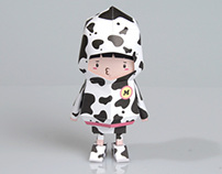[ MILK COW ] Paper toy of Boogiehood