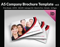 A5 Company Brochure Template vol.2