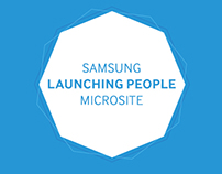 Samsung Launching People Microsite