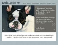 Leah Davies Art: Web Design