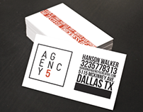 AGENCY5 Business Card Design