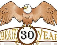 Mucha Inspired 30 Year Celebration Invite