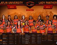 Claflin Univeristy Lady Panthers Sotball Poster