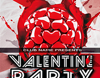 Free Valentine's Party Flyer Template