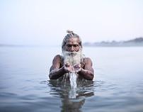 Holy Men of Varanasi, India