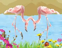 Kuş Cenneti Kolaj Çalışması - Bird of paradise Collage