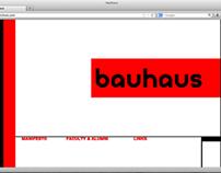 Bauhaus 1 Page Microsite