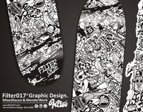 F017 Pattern Skateboard on Deckpeck