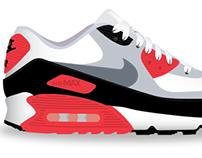 Nike Air Max 90 Rendering Series