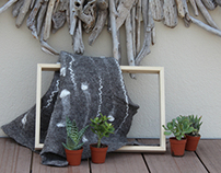 Felt. How to make your own vertical garden in felt