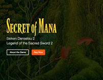 Secret of Mana - Responsive Website Mockup (One-page)