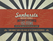Instant Feature Bundle - 152 Sunbursts