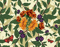 Botanical textile design