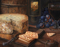 Still life in oils for Banfi Wines