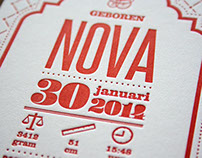 Birth card Nova