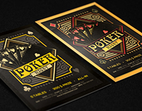 Poker Night / Black Jack Template Flyers 4x6
