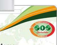 Modelo de crachá - Projeto SOS Oportunidades