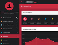 Flat style Dashboard - Statistics page design