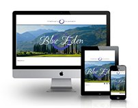 Blue Eden - web design project