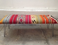 Custom Turkish Kilim Bench