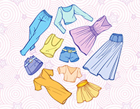 Summer outfits set
