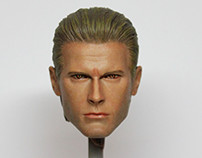 1/6 Albert Wesker Head Painting