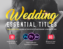Essential Wedding Titles | After Effects and Premiere