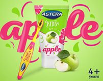 Astera Kids toothpaste redesign