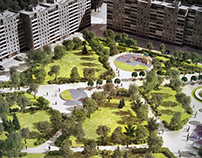 Green space residential area