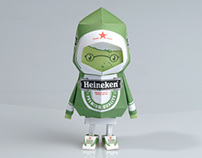 [ Heineken ] Paper toy of Boogiehood