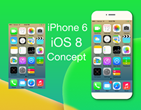 iPhone 6 and iOS 8 Concept