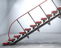 3D staircase concept.