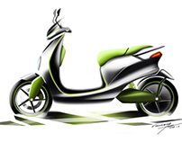 Sketch Of Electric Motorcycle Concept Design