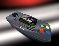 Commodore Amiga CD32 MINI product shot in 3D