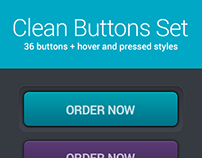 Clean buttons set