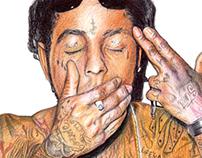 Lil Wayne Portrait Drawing