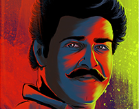 Digital Portrait Painting - Mohanlal