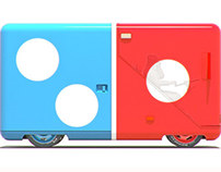 Dominos Delivery Van Concept Illustrations