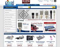 Online Storefront for www.pixelproaudio.com - 2012