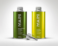Maini Biological olive oil product design