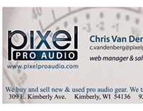 Business Cards for Pixel Pro Audio