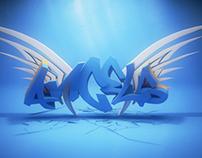 Angel Wings Graffiti