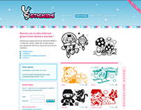 Stickids Wall Decals Website design
